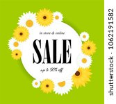 spring sale background with...   Shutterstock .eps vector #1062191582