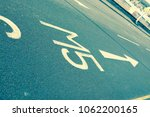 Road markings showing the way to the M5 motorway - filter applied