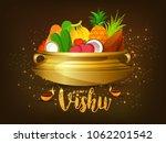 happy vishu greeting card... | Shutterstock .eps vector #1062201542