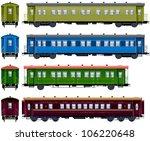 coach   train  7  pixel... | Shutterstock .eps vector #106220648
