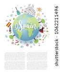 spain world map for tourist and ... | Shutterstock .eps vector #1062211496