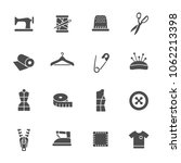 sewing icon set | Shutterstock .eps vector #1062213398