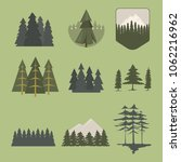 tree outdoor travel pine... | Shutterstock .eps vector #1062216962