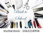 get back to school written in... | Shutterstock . vector #1062218906