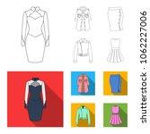 women clothing outline flat...   Shutterstock .eps vector #1062227006