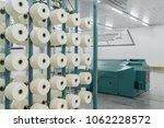 textile yarn on the warping... | Shutterstock . vector #1062228572
