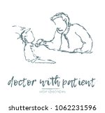 doctor with patient  hand drawn ... | Shutterstock .eps vector #1062231596