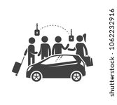 group of people and a vehicle.... | Shutterstock .eps vector #1062232916