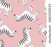 zebra pattern  kid safari print | Shutterstock .eps vector #1062233315