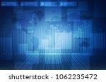 2d rendering stock market... | Shutterstock . vector #1062235472