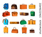 different cartoon handbags and... | Shutterstock .eps vector #1062236402