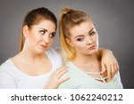 two female friend comforting... | Shutterstock . vector #1062240212