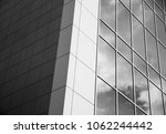 Modern and conteporary arcitectural fiction. Abstract architecture fragment. black and white