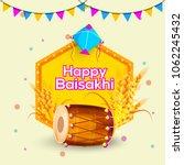 illustration of happy baisakhi... | Shutterstock .eps vector #1062245432
