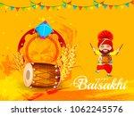 illustration of happy baisakhi... | Shutterstock .eps vector #1062245576