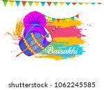 illustration of happy baisakhi... | Shutterstock .eps vector #1062245585