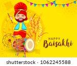 illustration of happy baisakhi... | Shutterstock .eps vector #1062245588