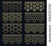set of golden seamless borders  ... | Shutterstock .eps vector #1062251762