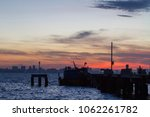 beautiful sunset in the sea for ...   Shutterstock . vector #1062261782