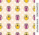 tile vector pattern with owls...   Shutterstock .eps vector #1062266522