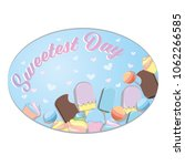happy sweetest day design with... | Shutterstock .eps vector #1062266585