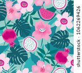 beautiful seamless pattern with ... | Shutterstock .eps vector #1062269426
