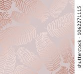 vector pattern with fern leaves ... | Shutterstock .eps vector #1062271115