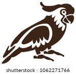 cockatoo. simple illustration.... | Shutterstock .eps vector #1062271766