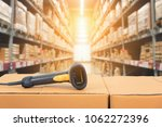 barcode scanner in front of... | Shutterstock . vector #1062272396