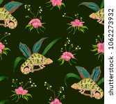 seamless pattern with tropical...   Shutterstock .eps vector #1062273932