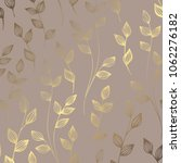 luxury golden floral pattern on ... | Shutterstock .eps vector #1062276182