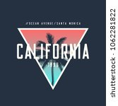 california ocean avenue t shirt ... | Shutterstock .eps vector #1062281822