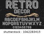 vintage font handcrafted vector ... | Shutterstock .eps vector #1062283415