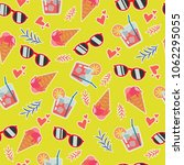 bright seamless pattern with... | Shutterstock .eps vector #1062295055