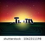 neon topographic grid landscape ...   Shutterstock .eps vector #1062311198