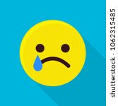 crying emoticon icon. flat... | Shutterstock .eps vector #1062315485