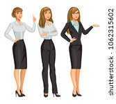 woman in business suit with... | Shutterstock .eps vector #1062315602