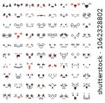 collection of cute lovely... | Shutterstock .eps vector #1062328802