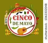 cinco de mayo. traditional... | Shutterstock .eps vector #1062332048