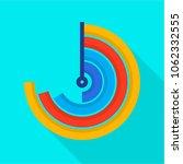 semi circle diagram icon. flat...   Shutterstock .eps vector #1062332555