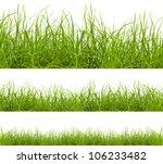 green grass isolated on white... | Shutterstock . vector #106233482