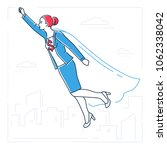 businesswoman with a super... | Shutterstock .eps vector #1062338042