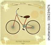 retro bicycle vintage postcard | Shutterstock .eps vector #106234676
