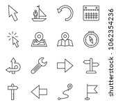 thin line icon set   manager... | Shutterstock .eps vector #1062354236