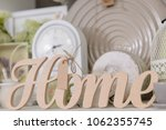 decor for home in pastel colors ... | Shutterstock . vector #1062355745