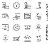 thin line icon set   check... | Shutterstock .eps vector #1062356426