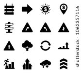 solid vector icon set   sign... | Shutterstock .eps vector #1062357116