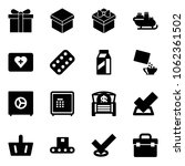solid vector icon set   gift... | Shutterstock .eps vector #1062361502