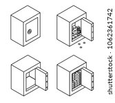illustration. set of outline...   Shutterstock . vector #1062361742