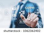 gdpr general data protection... | Shutterstock . vector #1062362402